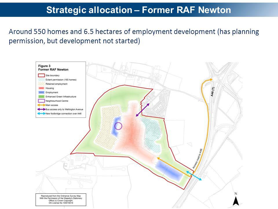 Strategic allocation – Former RAF Newton