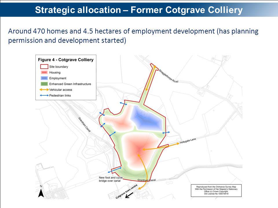 Strategic allocation – Former Cotgrave Colliery