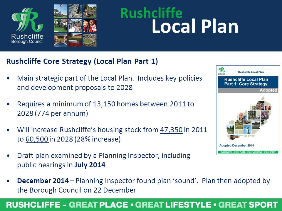 Local Plan Rushcliffe Rushcliffe Core Strategy (Local Plan Part 1)