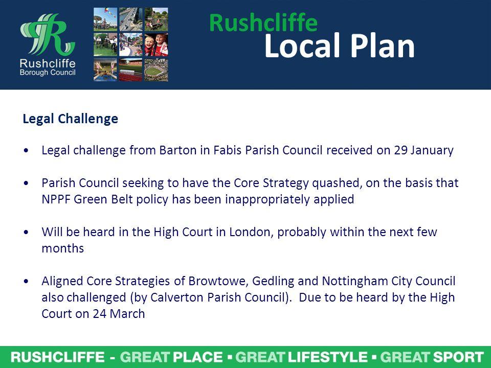 Local Plan Rushcliffe Legal Challenge