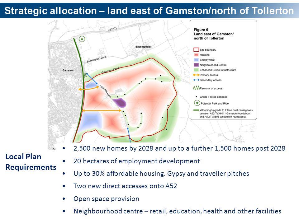 Strategic allocation – land east of Gamston/north of Tollerton