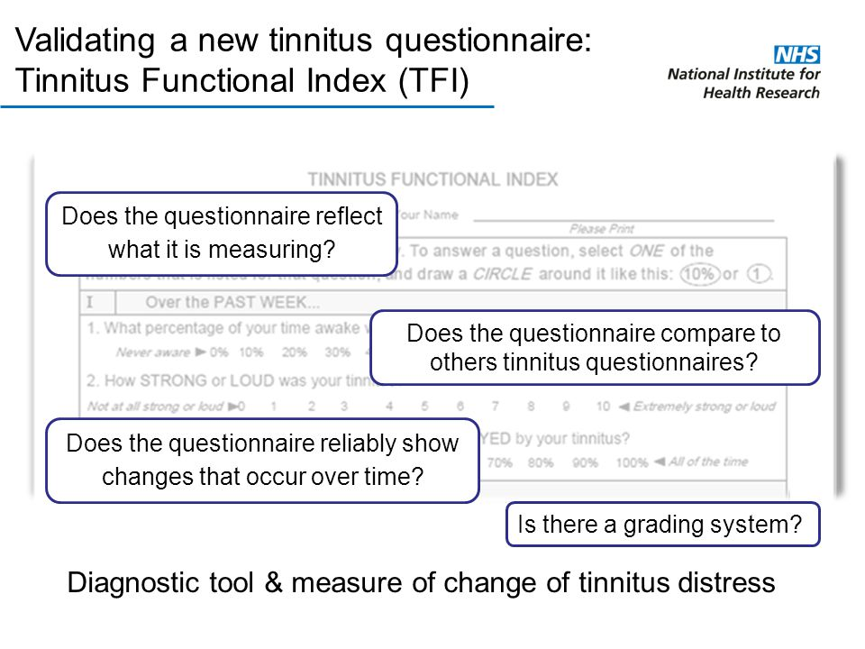 Validating a new tinnitus questionnaire: Tinnitus Functional Index (TFI)