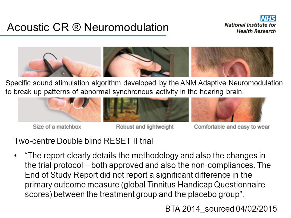 Acoustic CR ® Neuromodulation