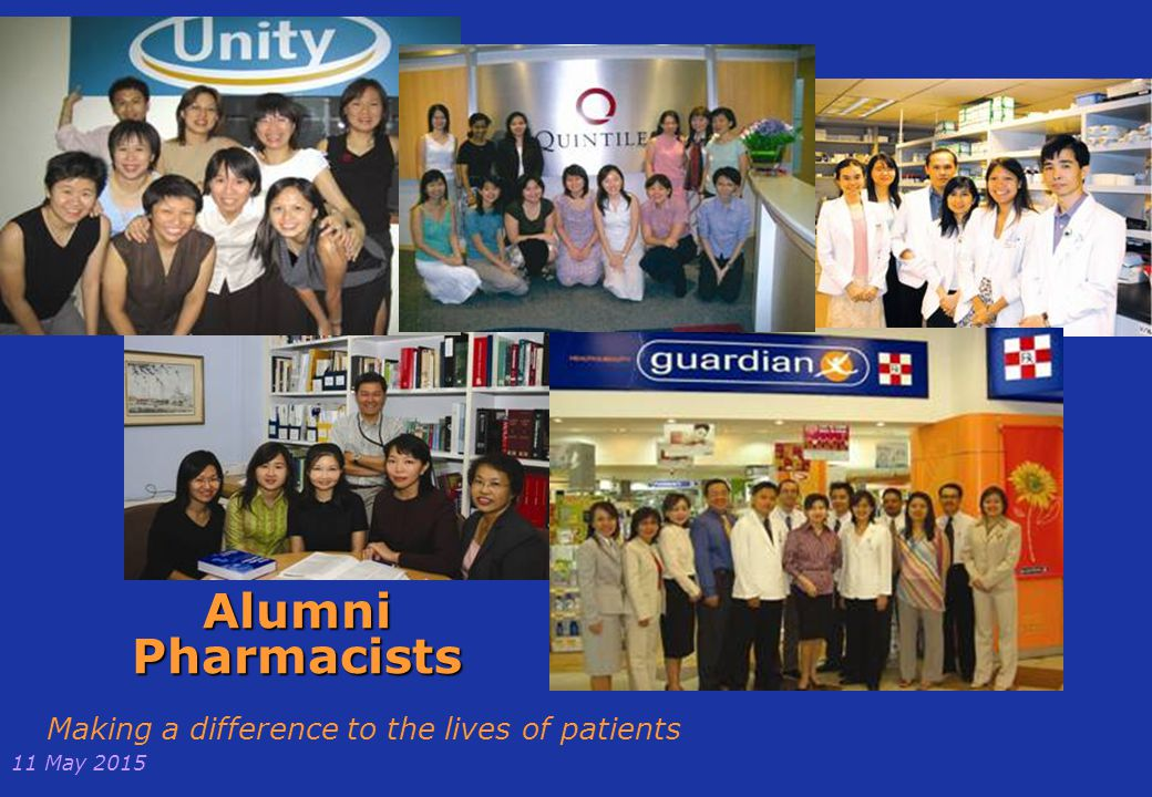 Alumni Pharmacists Making a difference to the lives of patients