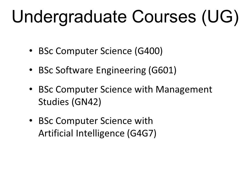 Undergraduate Courses (UG)