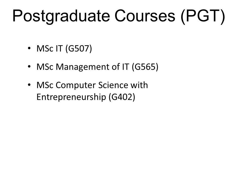 Postgraduate Courses (PGT)