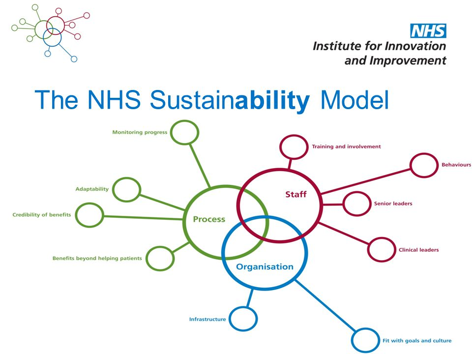 The NHS Sustainability Model