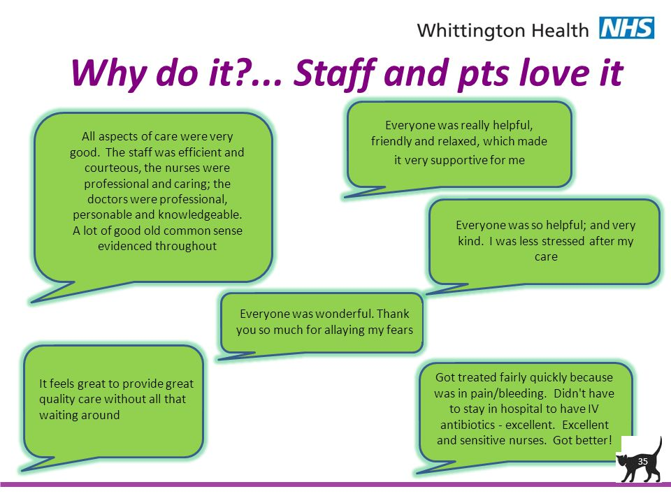 Why do it ... Staff and pts love it