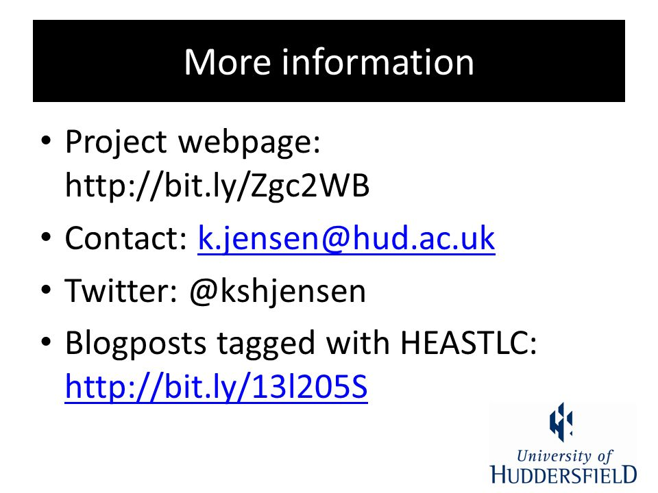 More information Project webpage: