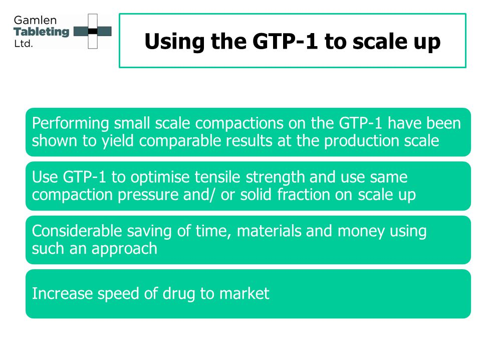 Using the GTP-1 to scale up
