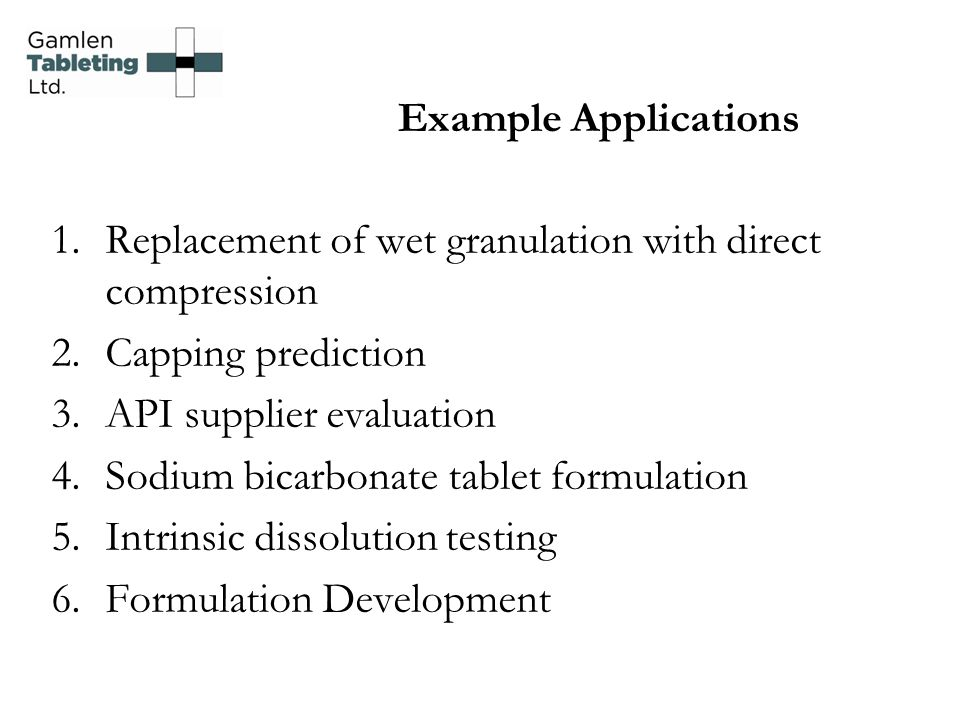 Replacement of wet granulation with direct compression