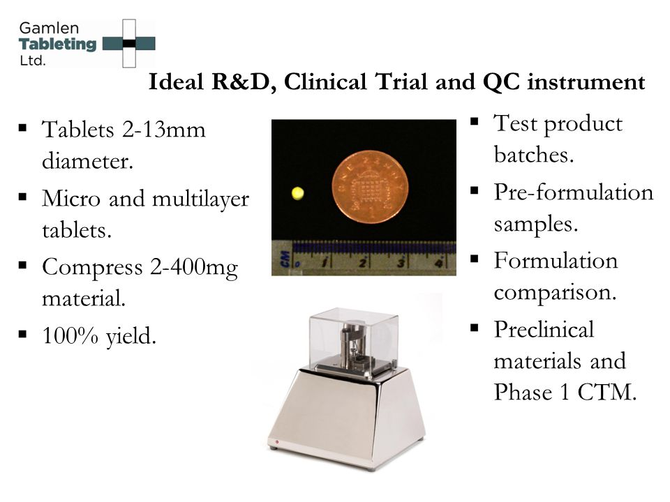 Ideal R&D, Clinical Trial and QC instrument