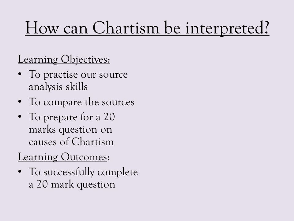 How can Chartism be interpreted