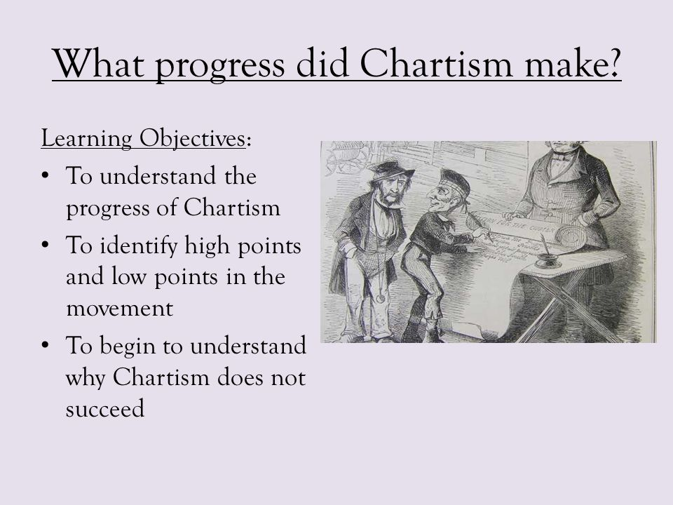 What progress did Chartism make