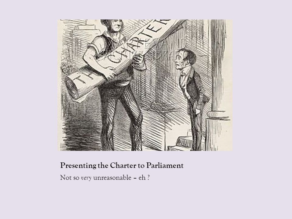 Presenting the Charter to Parliament