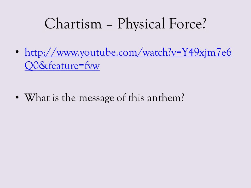 Chartism – Physical Force