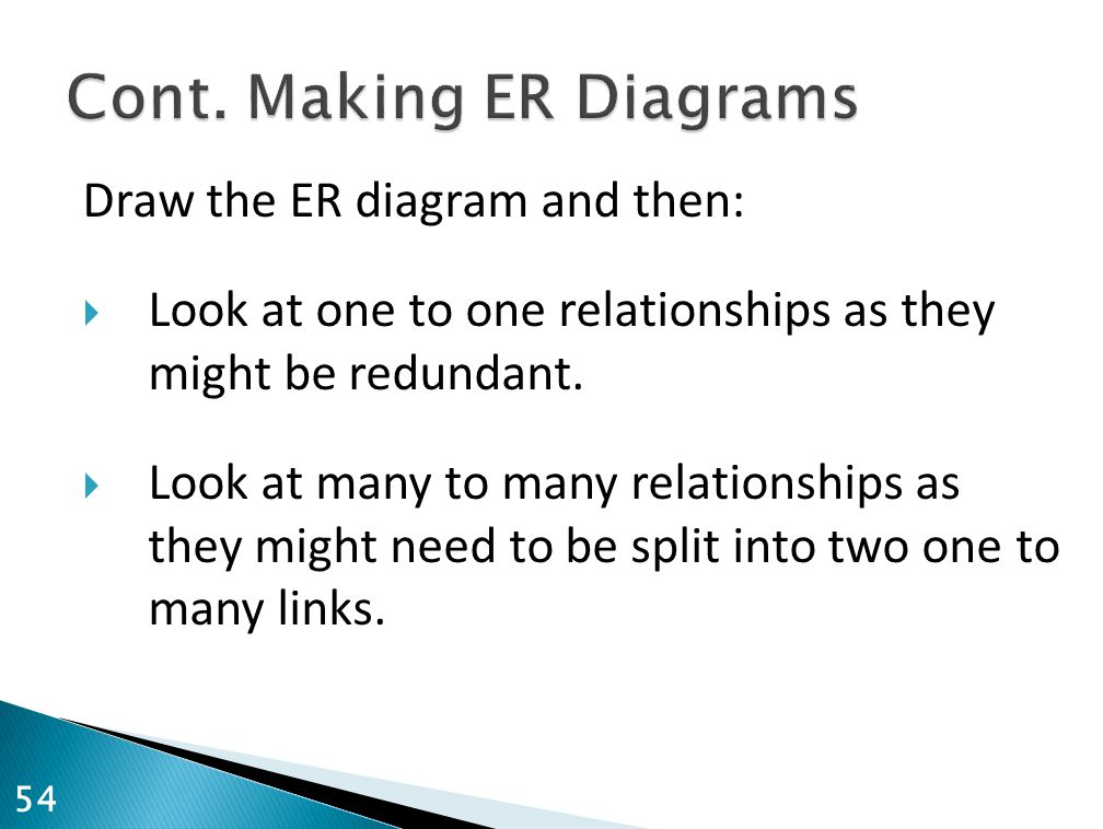Cont. Making ER Diagrams