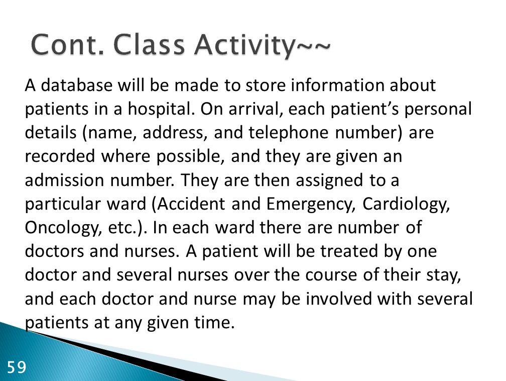 Cont. Class Activity~~