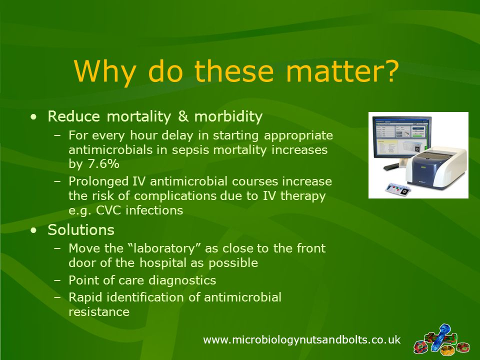 Why do these matter Reduce mortality & morbidity Solutions