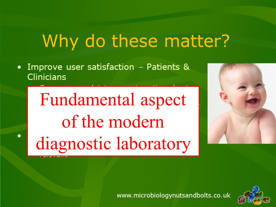 Fundamental aspect of the modern diagnostic laboratory