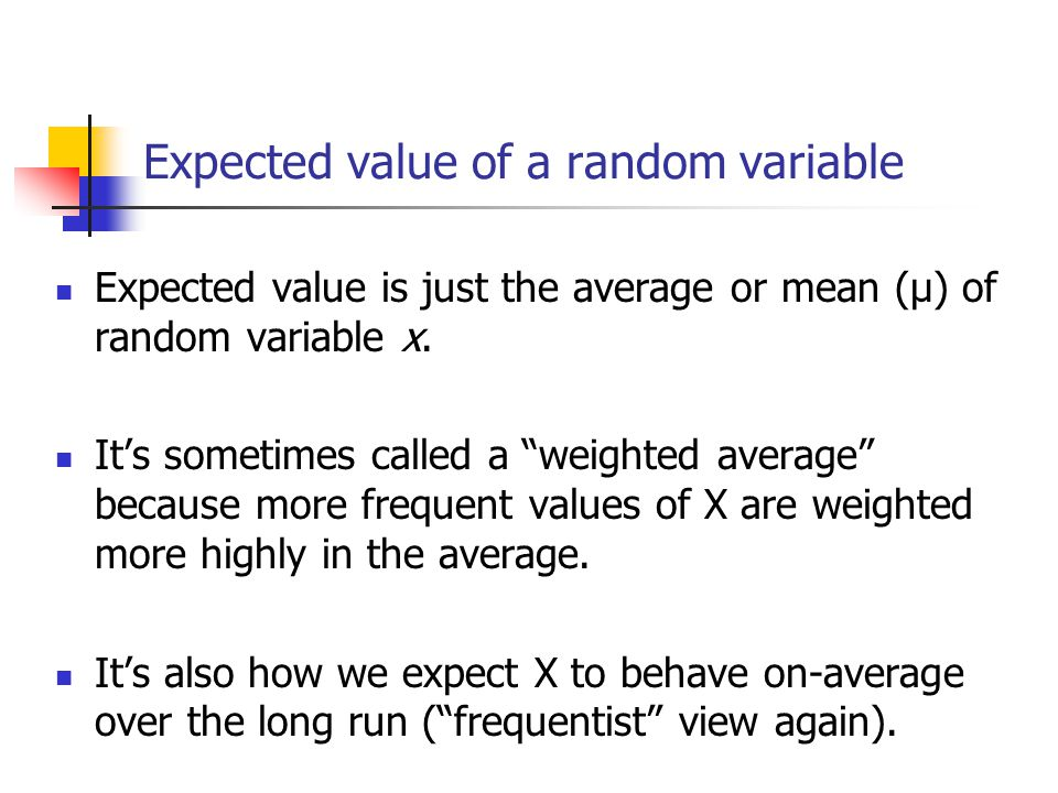 Expected value of a random variable