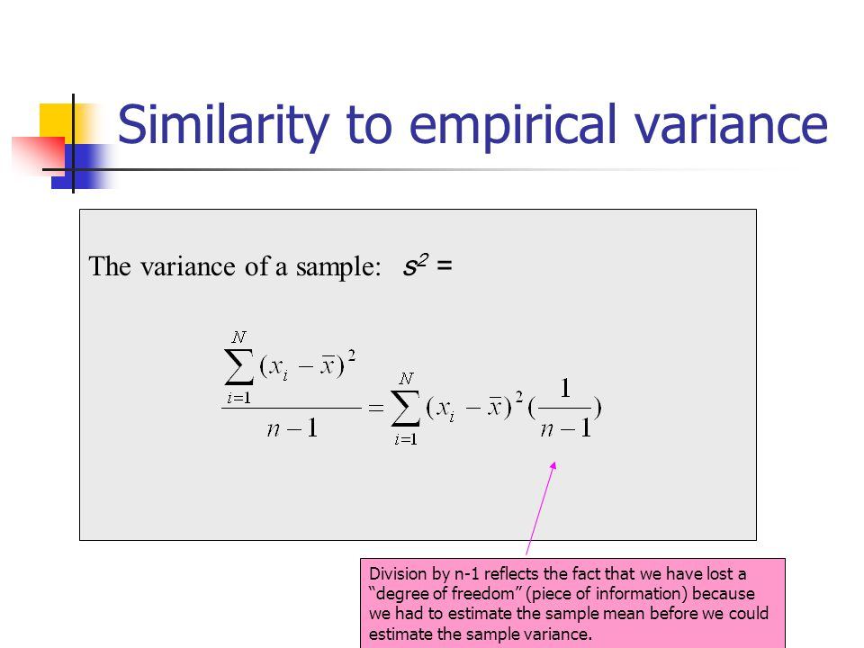 Similarity to empirical variance