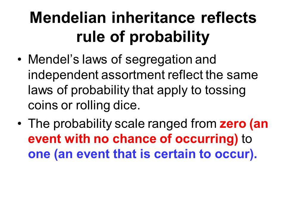 Mendelian inheritance reflects rule of probability