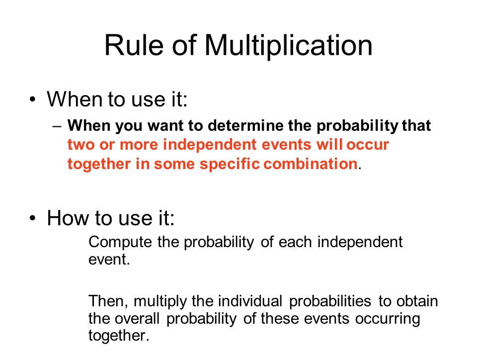 Rule of Multiplication