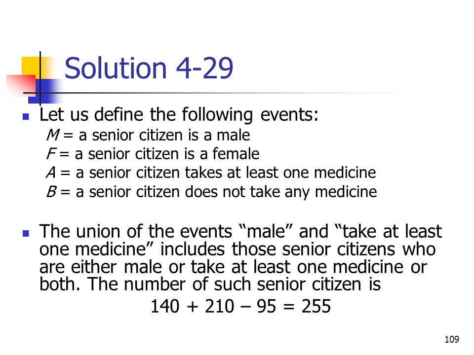 Solution 4-29 Let us define the following events: