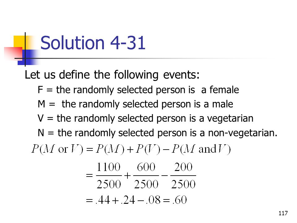 Solution 4-31 Let us define the following events: