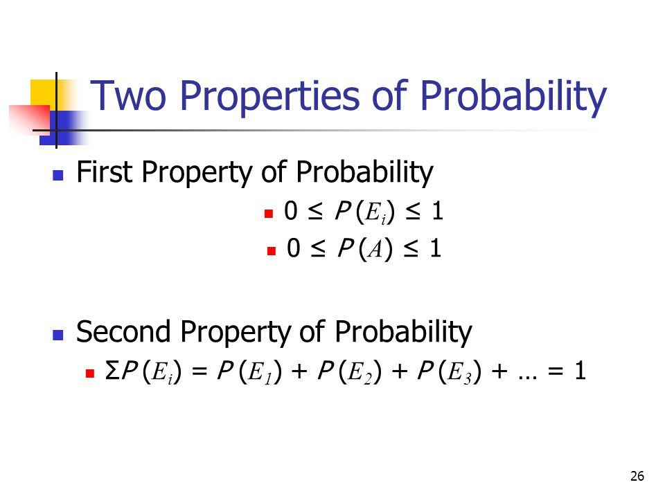 Two Properties of Probability