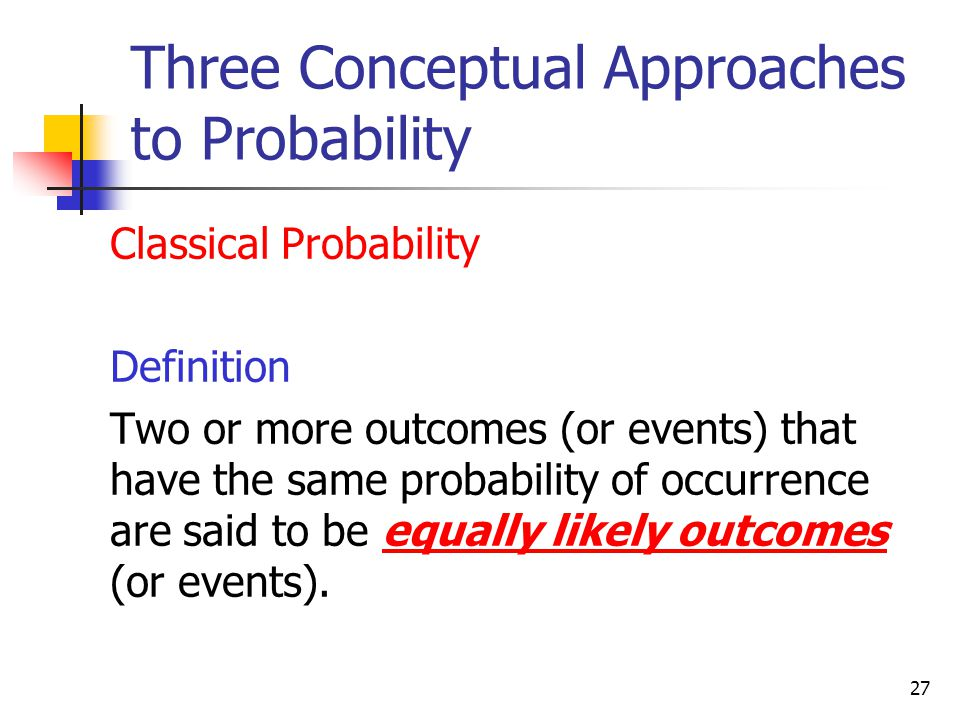 Three Conceptual Approaches to Probability