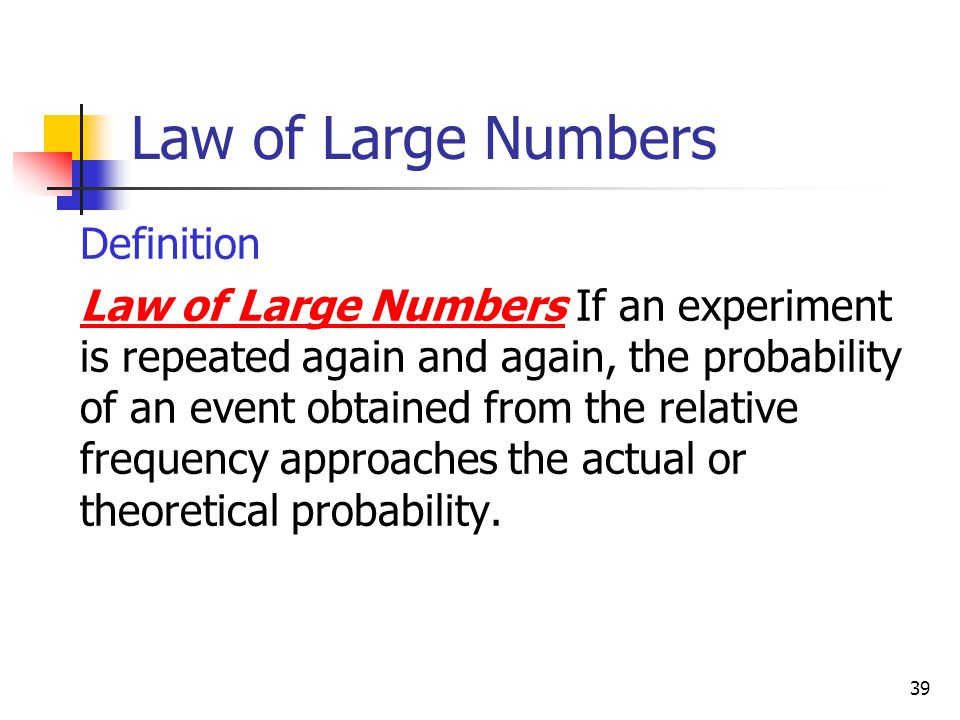 Law of Large Numbers Definition