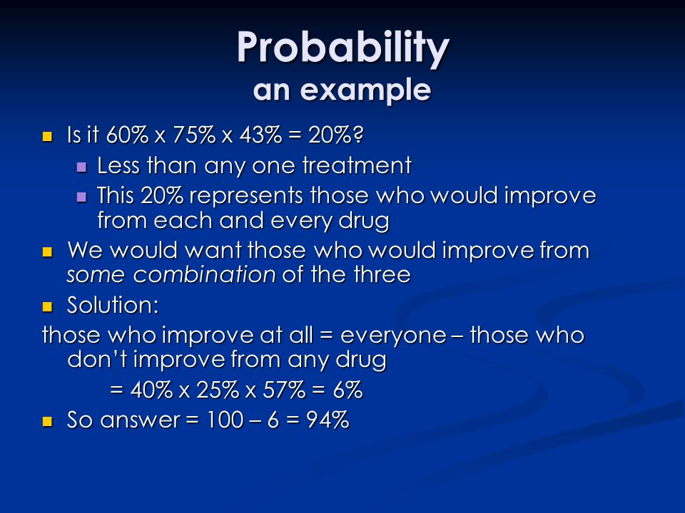 Probability an example