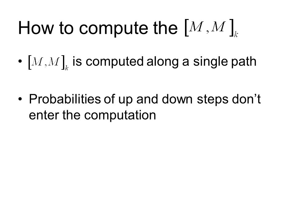 How to compute the is computed along a single path