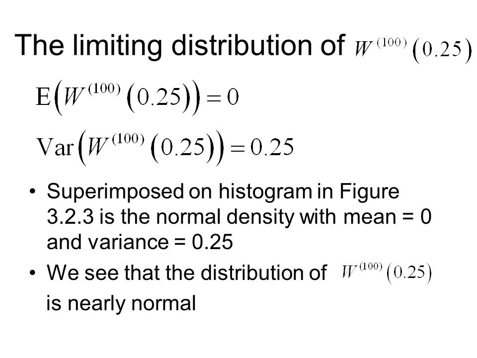 The limiting distribution of