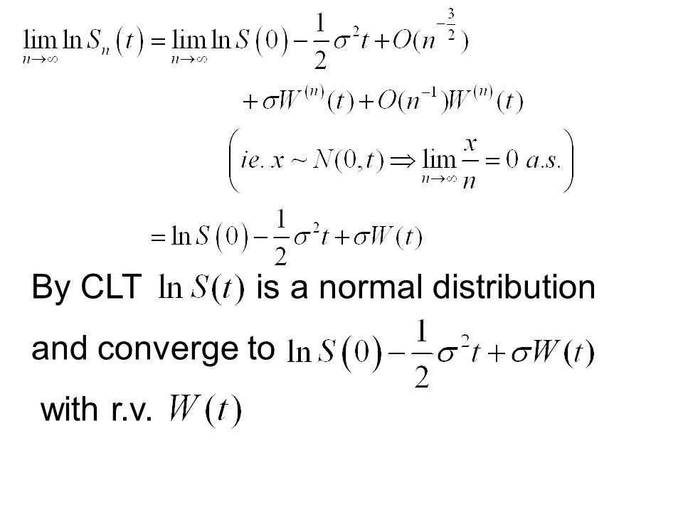 By CLT is a normal distribution