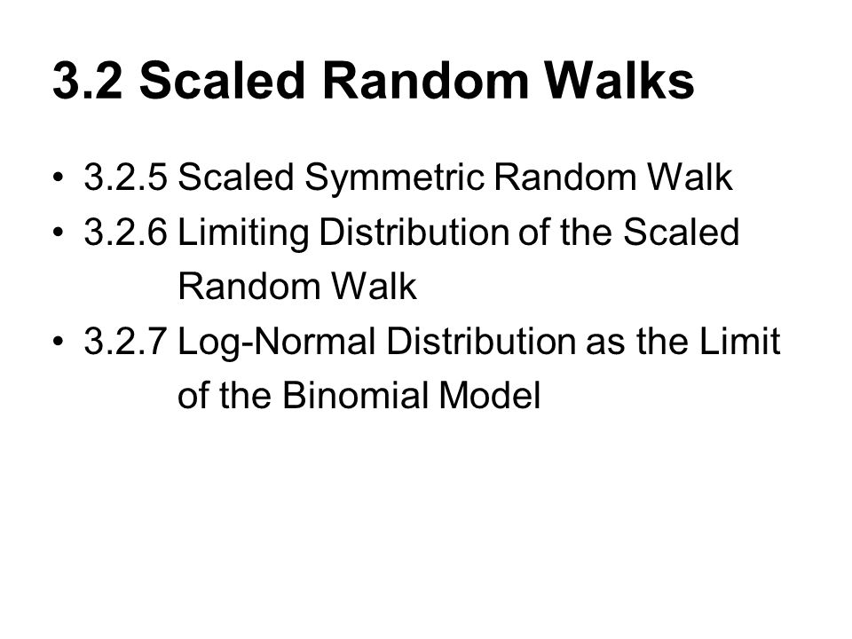 3.2 Scaled Random Walks 3.2.5 Scaled Symmetric Random Walk