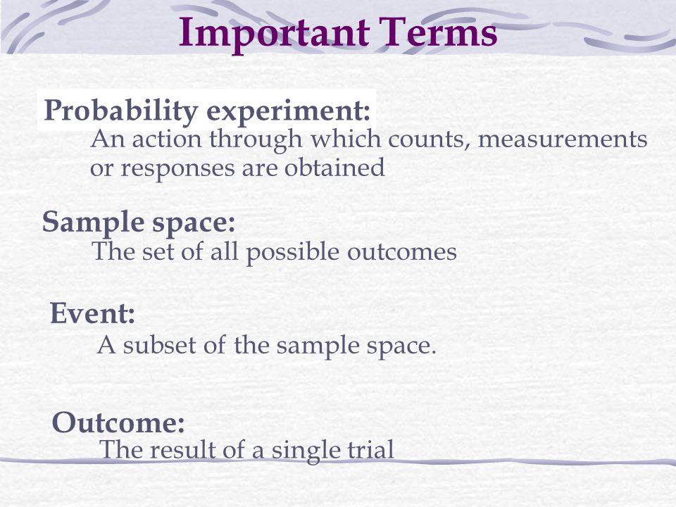 Probability experiment: