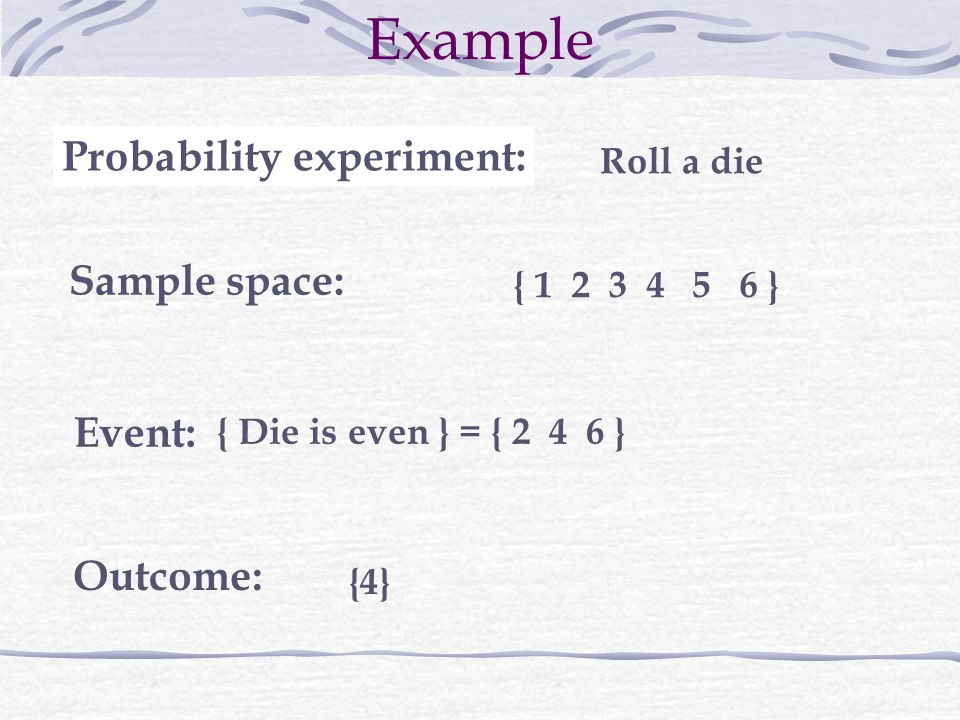 Probability experiment: