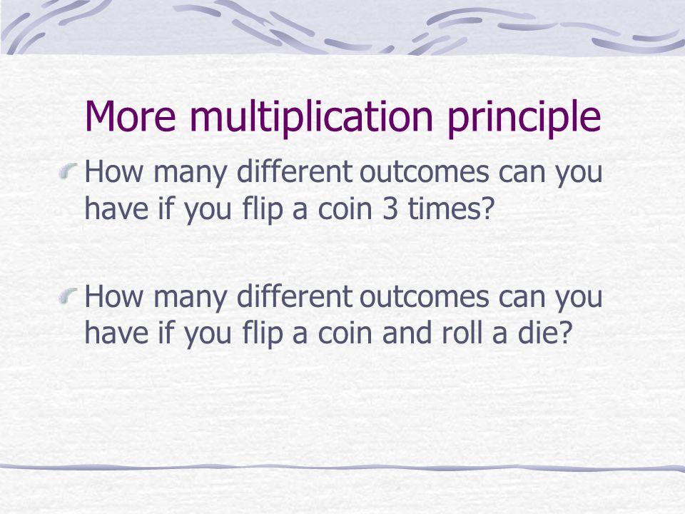 More multiplication principle