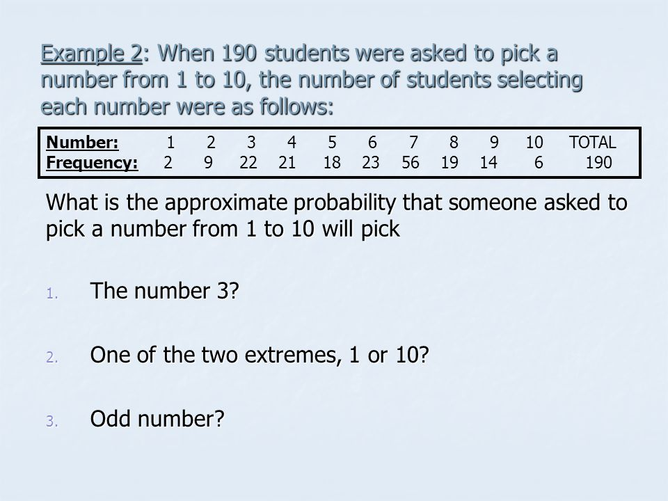 One of the two extremes, 1 or 10 Odd number