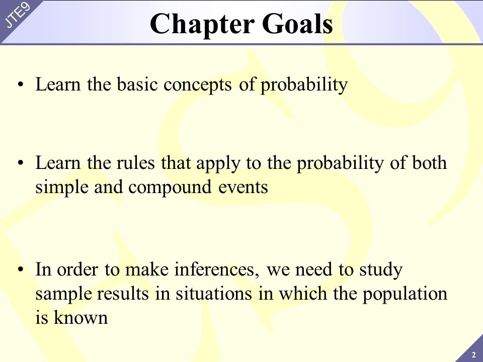 fundamental concepts of probability Basic concept of probability 1 basic probability 2 introduction probability is the study of randomness and uncertainty.