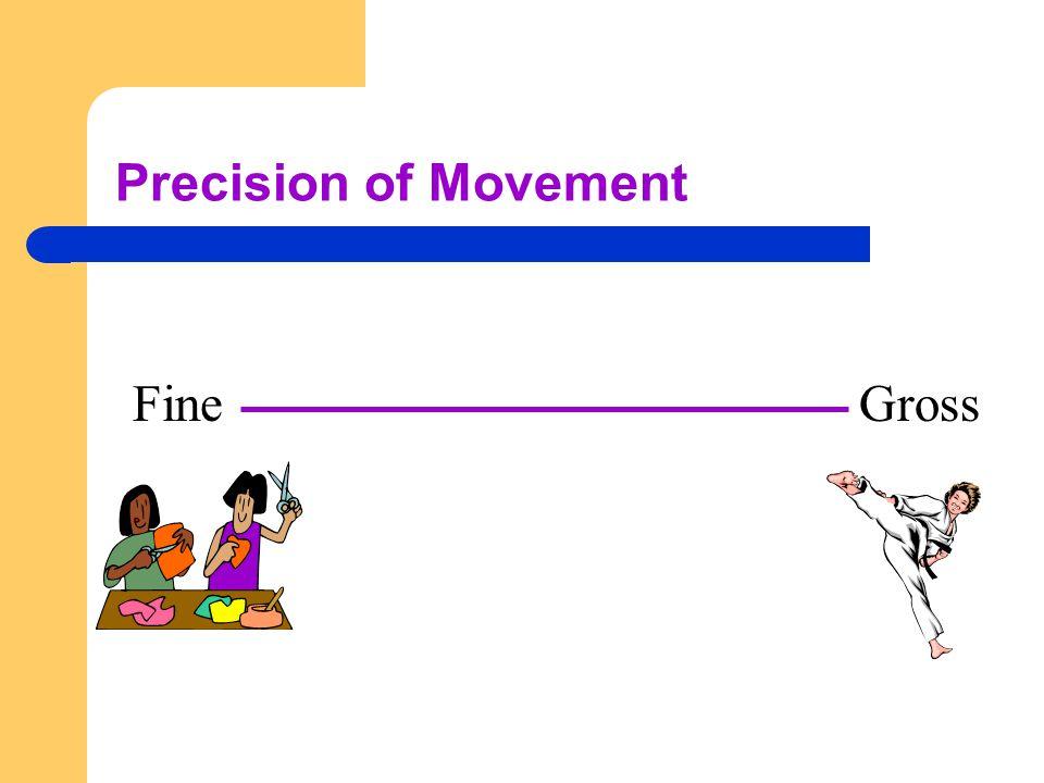 Precision of Movement Fine Gross