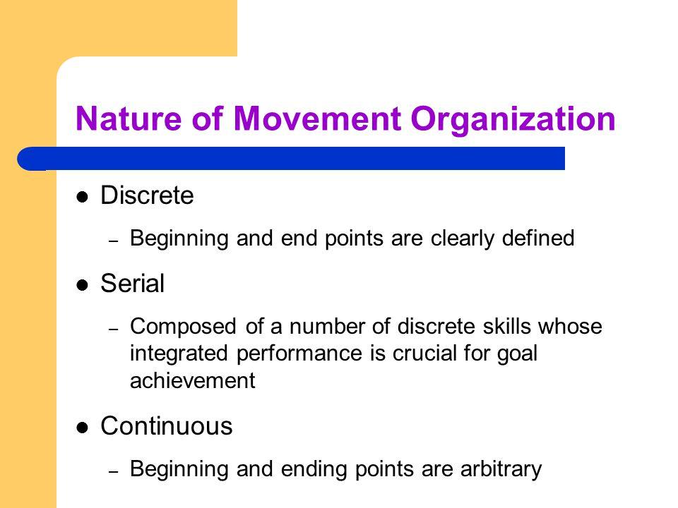 Nature of Movement Organization