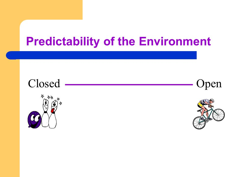 Predictability of the Environment