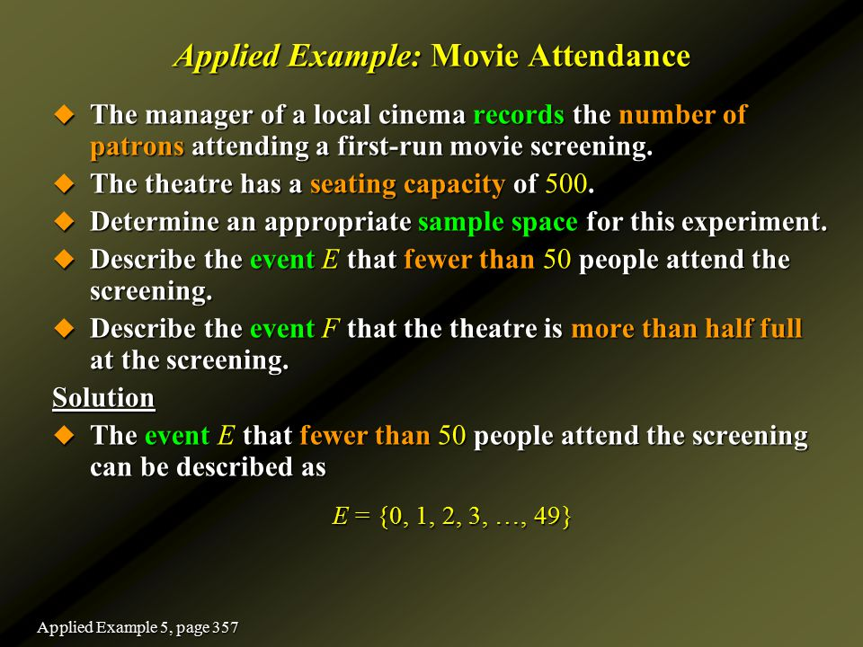 Applied Example: Movie Attendance