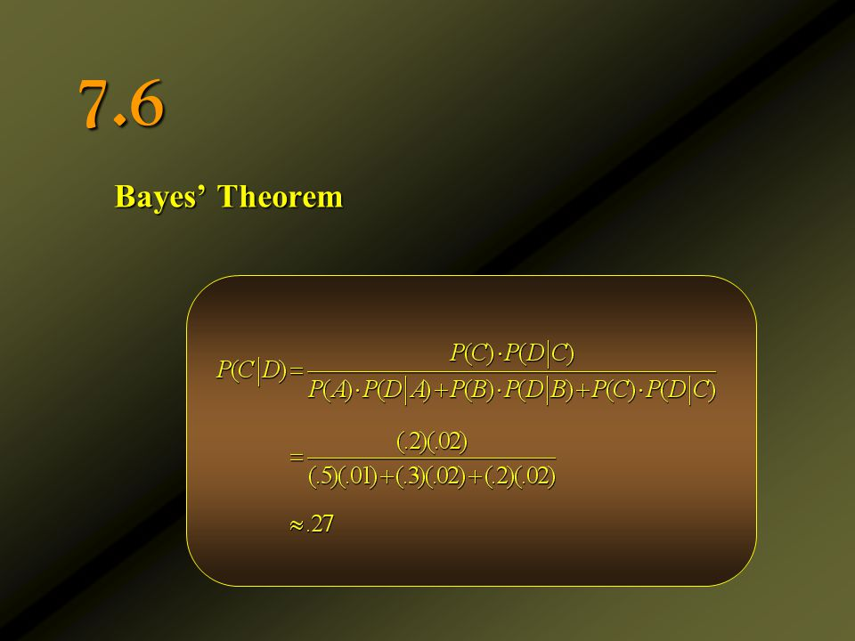 7.6 Bayes' Theorem
