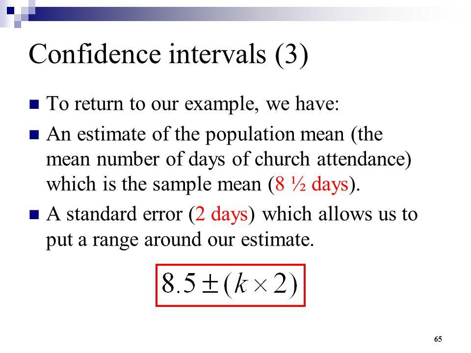 Confidence intervals (3)