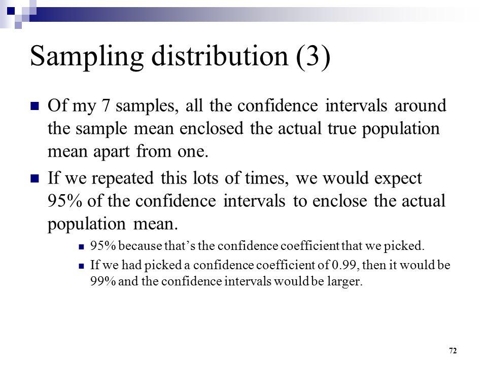 Sampling distribution (3)